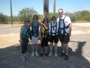 Kate Perrin and Boss Ladies Tackle Zipline
